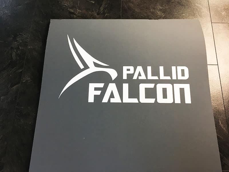 Fitnessmatte Test Pallid Falcon Impact Logo