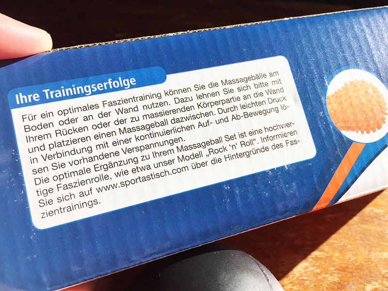 Massageball Set Well being von Sportastisch Massageball Test Massagebaelle Verpackungsaufdruck
