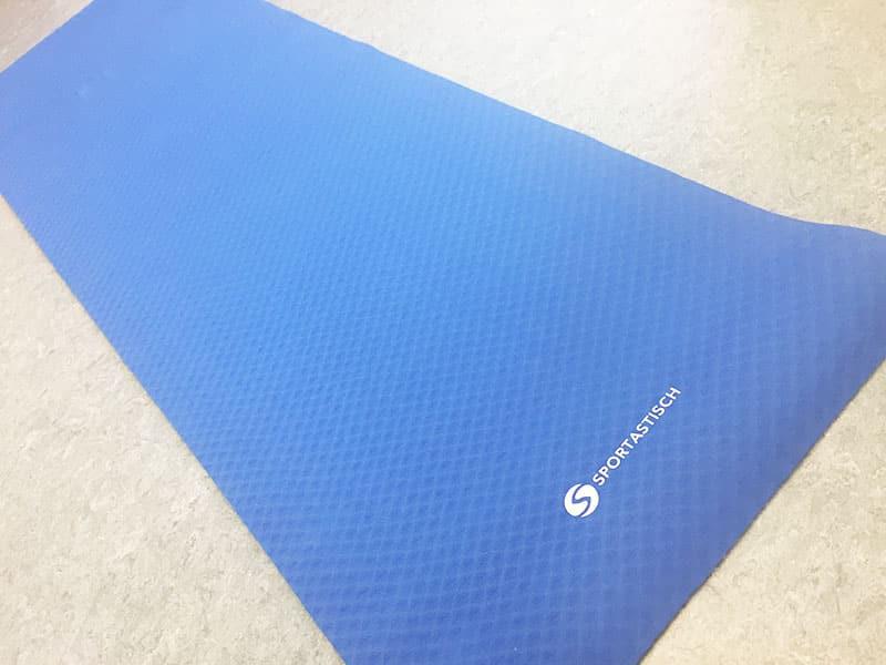 Yogamatte Test Yoga Star Sportastisch Matte ausgerollt