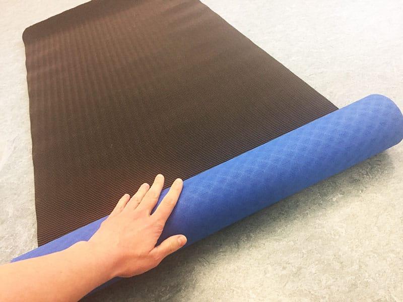 Yogamatte Test Yoga Star Sportastisch zusammenrollen Yogamatten