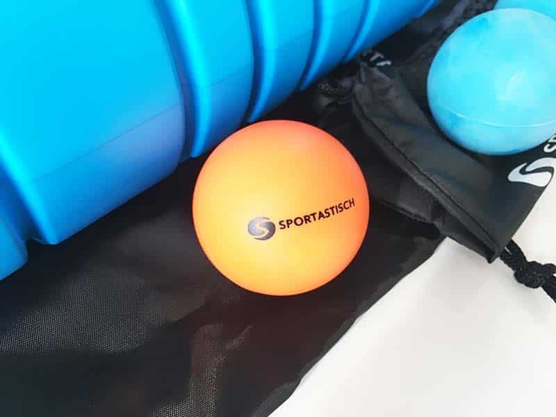 Faszienrolle Test Sportastisch Let´s Roll Massageball Orange