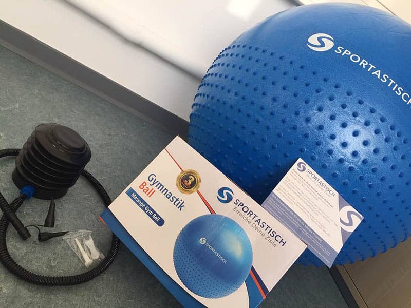 Sportastisch Massage Gym Ball mit Pumpe und Verpackung